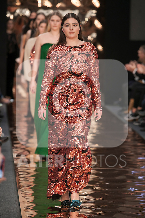 Top Model Alessandra Garcia during Couchel presentation at Madrid Fashion Show MSF in Madrid, Spain. February 10, 2016. (ALTERPHOTOS/Victor Blanco)