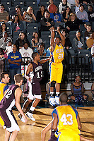 SAN ANTONIO, TX - NOVEMBER 16, 2007: The Schreiner University Mountaineers vs. the St. Mary's University Rattlers Men's Basketball at Bill Greehey Arena. (Photo by Jeff Huehn)