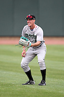 Dayton Dragons Josh Garton (15) during a game vs. the Great Lakes Loons at Dow Diamond in Midland, Michigan August 19, 2010.   Great Lakes defeated Dayton 1-0.  Photo By Mike Janes/Four Seam Images