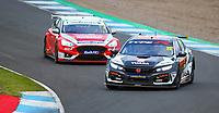 29th August 2020; Knockhill Racing Circuit, Fife, Scotland; Kwik Fit British Touring Car Championship, Knockhill, Qualifying Day; Matt Neal pulls ahead of Rory Butcher during qualifying