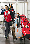 Louis Fortin, Sochi 2014.<br /> Team Canada arrives at the airport in Sochi for the Sochi 2014 Paralympic Winter // Équipe Canada arrive à l'aéroport de Sotchi pour Sochi 2014 Jeux paralympiques d'hiver. 03/03/2014.