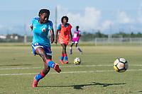 Bradenton, FL - Sunday, June 12, 2018: Rachelle Caremus prior to a U-17 Women's Championship 3rd place match between Canada and Haiti at IMG Academy. Canada defeated Haiti 2-1.
