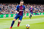 Paco Alcacer of FC Barcelona in action during the La Liga 2017-18 match between FC Barcelona and RC Celta de Vigo at Camp Nou Stadium on 02 December 2017 in Barcelona, Spain. Photo by Vicens Gimenez / Power Sport Images