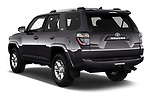 Car pictures of rear three quarter view of 2020 Toyota 4-Runner SR5 5 Door SUV Angular Rear