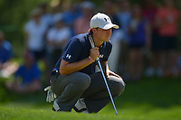 June 29, 2013  (Bethesda, Maryland) Jordan Spieth eyes his put on the 8th hole during Round 3 of the AT&T National at the Congressional Country Club in Bethesda, MD.   (Photo by Don Baxter/Media Images International)
