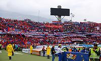 MEDELLIN - COLOMBIA, 22-02-2020: Hinchas del Medellín animan a su equipo durante partido por la fecha 6 entre Deportivo Independiente Medellín y Atlético Nacional como parte de la Liga BetPlay DIMAYOR I 2020 jugado en el estadio Atanasio Girardot de la ciudad de Medellín. / Fans of Medellin cheer for their team during Match for the date 6 between Deportivo Independiente Medellin and Atletico Nacional as a part BetPlay DIMAYOR League I 2020 at Atanasio Girardot stadium in Medellin city. Photo: VizzorImage / Donaldo Zuluaga / Cont