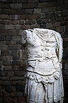 Headless statue of Roman centurion