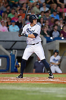 Nate Robertson (26) of the Hillsboro Hops at bat during a game against the Tri-City Dust Devils at Ron Tonkin Field in Hillsboro, Oregon on August 24, 2015.  Tri-City defeated Hillsboro 5-1. (Ronnie Allen/Four Seam Images)