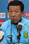 Head coach and player of the eonbuk Hyundai Motors attends the press conference prior to the  Binh Duong vs Jeonbuk Hyundai Motors match during the 2015 AFC Champions League Group E match on April 07, 2015 at the Binh Duong Stadium in Thu Dau Mot City, Vietnam. Photo by Hoang Hung / World Sport Group