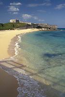 Bermuda, fort, St. George's Parish, Fort St. Catherine on St. Catherine's Beach on the Atlantic Ocean in St George in Bermuda.