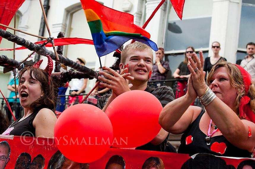 The annual Gay Pride parade makes its way through central Brighton to a party in Preston Park.
