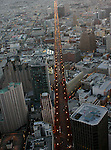 October 29, 2005; San Francisco, CA, USA; Aerial view of street lights on Market Street at sunset in downtown San Francisco, CA. Photo by: Phillip Carter