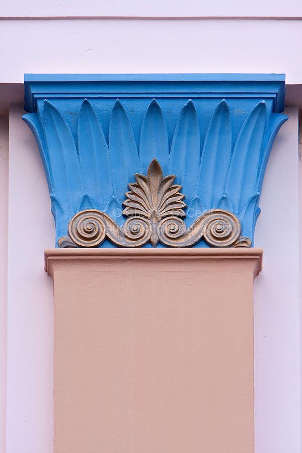 Art Deco Column Decoration, Napier, north island, New Zealand.