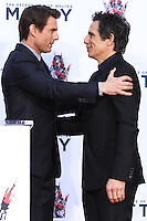 HOLLYWOOD, CA - DECEMBER 03: Tom Cruise, Ben Stiller attending the Ben Stiller Hand/Footprint Ceremony held at TCL Chinese Theatre on December 3, 2013 in Hollywood, California. (Photo by Xavier Collin/Celebrity Monitor)