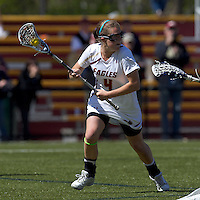 Boston College attacker Brooke Blue (4). Boston College defeated Yale University, 16-5, at Newton Campus Field, April 28, 2012.