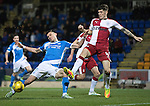 St Johnstone v Rangers…28.12.16     McDiarmid Park    SPFL<br />Graham Cummins and Rob Kiernan<br />Picture by Graeme Hart.<br />Copyright Perthshire Picture Agency<br />Tel: 01738 623350  Mobile: 07990 594431