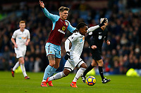 Renato Sanches of Swansea City and Jeff Hendrick of Burnley during the Premier League match between Burnley and Swansea City at Turf Moor, Burnley, England, UK. Saturday 18 November 2017