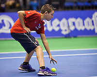 Rotterdam, Netherlands, December 20, 2015,  Topsport Centrum, Lotto NK Tennis, Final Ballboy<br /> Photo: Tennisimages/Henk Koster