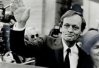 1984 FILE PHOTO - ARCHIVES -<br /> <br /> Liberal united: Jean Chretien has a smile for photographers in Ottawa after Prime Minister John Turner's new cabinet was sworn in. Chretien is the new deputy prime minister and senior minister in Quebec. Turner and Chretien are working together in a display of unity for Canadians<br /> <br /> 1984<br /> <br /> PHOTO : Boris Spremo - Toronto Star Archives - AQP