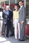 25.05.2012. Prince Felipe of Spain and Princess Letizia attend the inauguration of the Book Fair 2012 at the Retiro in Madrid. In the image Minister of Education Culture and Sports Jose Ignacio Wert, Letizia Ortiz and Felipe de Borbon (Alterphotos/Marta Gonzalez)