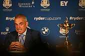Ryder Cup Captain Paul McGinley explained how difficult it was not to pick Luke Donald (ENG) during the Team Europe Ryder Cup Press Conference at the Wentworth Club, Virginia Waters, England. Picture:  David Lloyd / www.golffile.ie