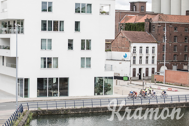 Early break away group from above<br /> <br /> 51th GP Jef 'Poeske' Scherens 2017 <br /> Leuven - Leuven (13local laps/153.7km)