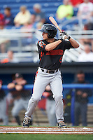 Aberdeen Ironbirds right fielder Cole Billingsley (4) at bat during a game against the Batavia Muckdogs on July 16, 2016 at Dwyer Stadium in Batavia, New York.  Aberdeen defeated Batavia 9-0. (Mike Janes/Four Seam Images)