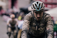 Gianni Moscon (ITA/SKY) rolling in (at the finish)<br /> <br /> 12th Strade Bianche 2018<br /> Siena > Siena: 184km (ITALY)