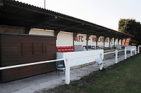 The covered area at AFC Wallingford Football Ground, Hithercroft, Wallingford, Oxfordshire, pictured on 31st March 1997