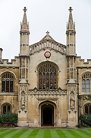 UK, England, Cambridge.  Corpus Christi College Chapel Entrance.