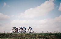 today's breakaway group:<br /> Jasper De Laat (BEL/Wanty-Groupe Gobert), Gordon De Winter (BEL/AGO-Aqua Service), Tom Dernies (BEL/Roubaix-Lille Métropole), Ivo Oliveira (POR/Hagens Berman Axeon) and Julien Mortier (BEL/WB-Aqua Protect-Veranclassic)<br /> <br /> 59th Grand Prix de Wallonie 2018 <br /> 1 Day Race from Blegny to Citadelle de Namur (BEL / 206km)
