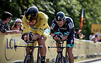 Yellow Jersey Peter Sagan (SVK/Bora Hansgrohe) <br /> <br /> Stage 3 (Team Time Trial): Cholet > Cholet (35km)<br /> <br /> 105th Tour de France 2018<br /> ©kramon
