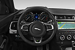 Car pictures of steering wheel view of a 2018 Jaguar E-PACE R-Dynamic S 4WD 5 Door SUV