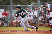 Michigan State Spartans second baseman Jordan Zimmerman (5) at bat during a game against the Illinois State Redbirds on March 8, 2016 at North Charlotte Regional Park in Port Charlotte, Florida.  Michigan State defeated Illinois State 15-0.  (Mike Janes/Four Seam Images)