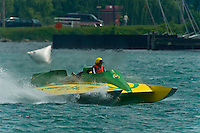 """13 July 2008  APBA Gold Cup.Fred Alter, U-64 """"Miss Vernors"""" Cabover Unlimited Hydroplane.©2008 F.Peirce Williams."""