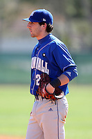 February 26, 2010:  First Baseman Chris Spagnuolo of the Seton Hall Pirates during the Big East/Big 10 Challenge at Raymond Naimoli Complex in St. Petersburg, FL.  Photo By Mike Janes/Four Seam Images