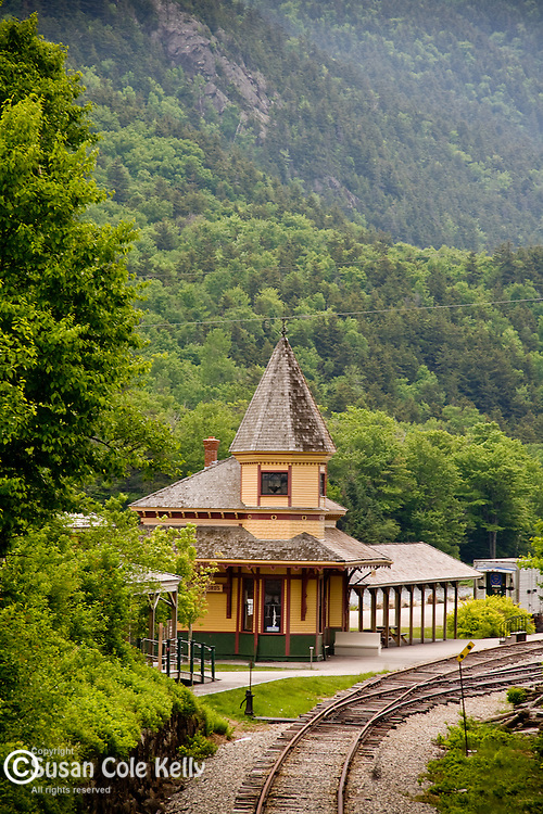 Crawford Depot of the Conway Scenic Railroad in Crawford Notch, White Mountain National Forest, NH