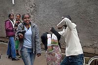 ethiopia, addis abeba, alcune ragazze, nel recente passato vittime di abuso sessuale, grazie all'aiuto dell'ong italiana Il Sole partecipano ad un corso di fotografia..Some girl, sexual abused, take part in a photographic workshop, thank to italian ngo Il Sole