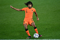 Nathan Ake of Netherlands in action during the Uefa Nation A League Group 1 football match between Italy and Netherlands at Atleti azzurri d Italia Stadium in Bergamo (Italy), October, 14, 2020. Photo Andrea Staccioli / Insidefoto