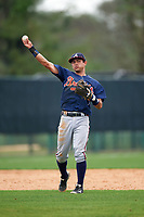 Atlanta Braves Omar Obregon (4) during an intrasquad Spring Training game on March 29, 2016 at ESPN Wide World of Sports Complex in Orlando, Florida.  (Mike Janes/Four Seam Images)