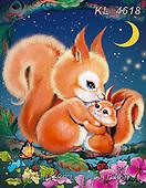 Catalea,Interlitho-Alfredo, CUTE ANIMALS, LUSTIGE TIERE, ANIMALITOS DIVERTIDOS, paintings+++++,2 squirrels,KL4618,#ac#, EVERYDAY ,puzzle,puzzles
