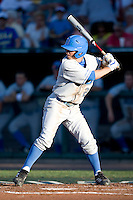 UCLA CF Beau Amaral at bat in Game Two of the NCAA Division One Men's College World Series Finals on June 29th, 2010 at Johnny Rosenblatt Stadium in Omaha, Nebraska.  (Photo by Andrew Woolley / Four Seam Images)