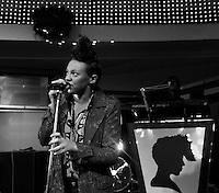 """electro pop singer La Roux - front woman Elli Jackson performs her chart success - the song """"bulletproof"""" during a live radio broadcast in Leipzig (Germany) . Foto: Norman Rembarz..Norman Rembarz , Autorennummer 41043728 , Holbeinstr. 14, 04229 Leipzig, Tel.: 01794887569, Hypovereinsbank: BLZ: 86020086, KN: 357889472, St.Nr.: 231/261/06432 - Jegliche kommerzielle Nutzung ist honorar- und mehrwertsteuerpflichtig! Persönlichkeitsrechte sind zu wahren. Es wird keine Haftung übernommen bei Verletzung von Rechten Dritter. Autoren-Nennung gem. §13 UrhGes. wird verlangt. Weitergabe an Dritte nur nach  vorheriger Absprache.."""