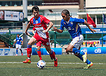 Leicester City vs Yau Yee League Select during the Day 2 of the HKFC Citibank Soccer Sevens 2014 on May 24, 2014 at the Hong Kong Football Club in Hong Kong, China. Photo by Xaume Olleros / Power Sport Images