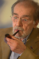July 31,  2003, File Photo - <br /> Serge Reggiani  smoke his pipe during a press conference in Montreal, CANADA.<br /> <br /> Mandatory Credit: Photo by Pierre Roussel