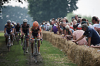 cx superstar Wout Van Aert (BEL/Vastgoedservice-Golden Palace) has set his mind on this (revamped) race and leads a group to try and catch the race leaders<br /> <br /> 90th Schaal Sels 2015