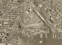 Historical aerial photograph of Mission Bay, San Francisco California, 1946