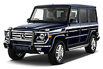 Front three quarter view of a .  2013 Mercedes-Benz G-Class G550 SUV