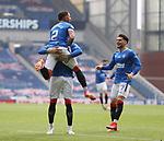 15.05.2021 Rangers v Aberdeen: James Tavernier scores for Rangers and celebrates