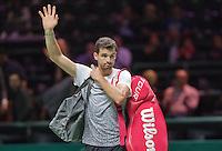 Februari 11, 2015, Netherlands, Rotterdam, Ahoy, ABN AMRO World Tennis Tournament, Grigor Dimitrov (BUL) thanks the crowd<br /> Photo: Tennisimages/Henk Koster